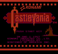 Castlevania Red Scale Title