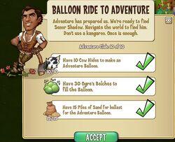 Balloon Ride to Adventure