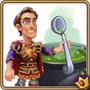 Male with spoon next to cauldron
