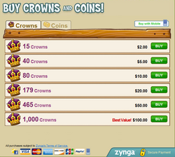 Buy crowns