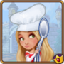 Female with Chef hat and spoon