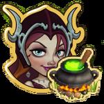 Hazel with Cauldron