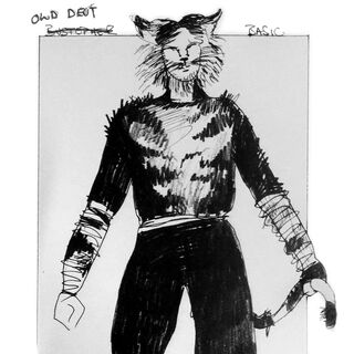 Original Design for Bustopher Basic - later used for Old Deuteronomy's ensemble costume.