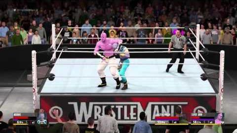 WWE 2K16 Dragon Ball - Beerus vs Buu and Freeza