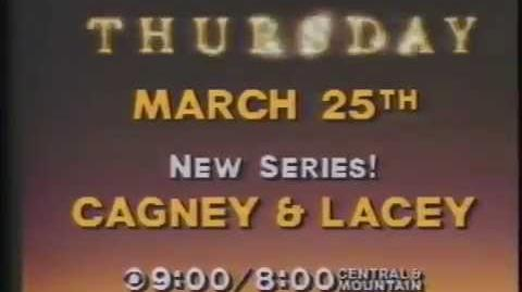 Cagney & Lacey 1982 Series Premiere Promo