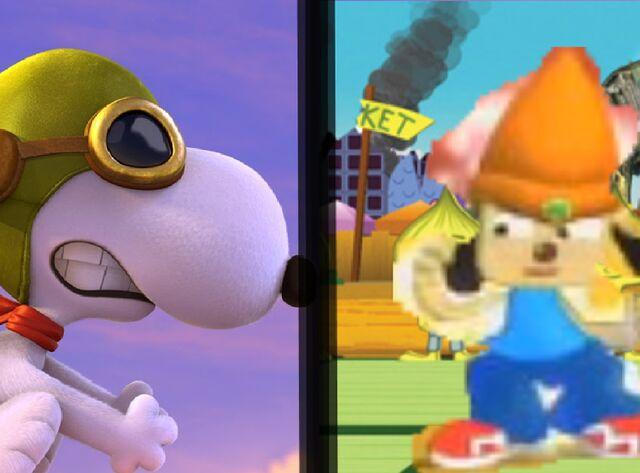 File:Snoopy vs parappa.jpg