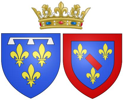 File:Arms of Louise Henriette de Bourbon as Duchess of Orléans.png
