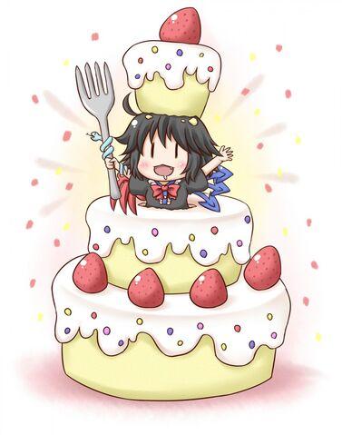 File:Anime girl in birthday cake.jpg