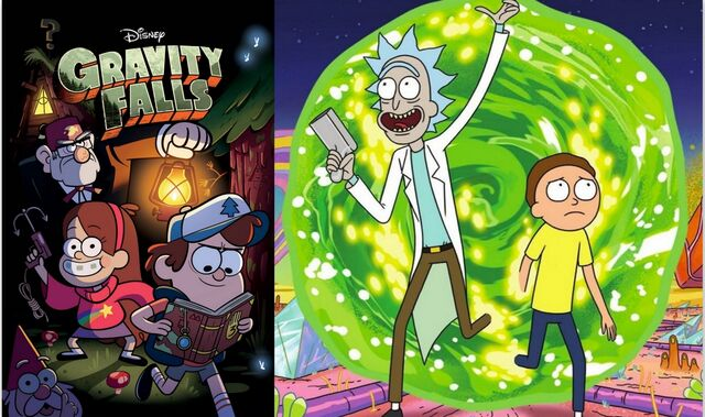 File:Rick-morty-gravity-falls-crossover.jpg