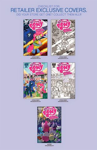 File:MLP IDW Friends Forever 7 Retailer Exclusive covers page.jpg