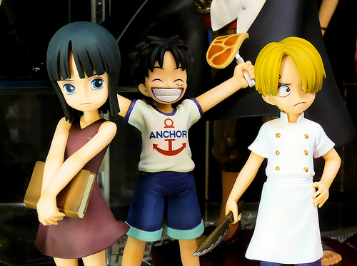 File:Robin, Luffy, Sanji as kids (from One Piece).jpg