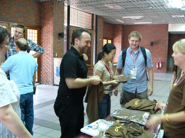 File:Wikiatshirtsatwikimania2007.jpg