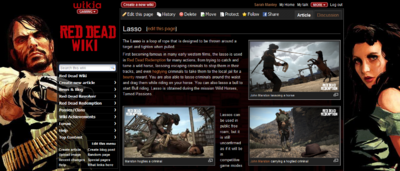 Red dead wiki lasso page