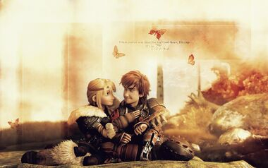 Astrid and Hiccup Wallpaper