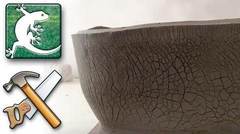 Making-of Big cracked bonsai pot