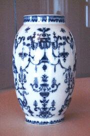 Saint Cloud soft porcelain vase with blue designs under glaze 1695-1700.jpg