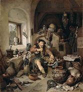 Cornelis Pietersz. Bega - De Alchemist