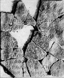 Placa III del Itinerario de Barro
