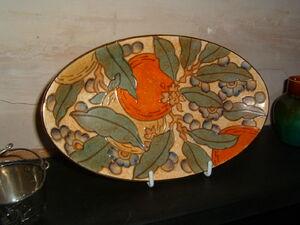 Charlotte Rhead plate (C Bertram)