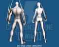 Bat Wing Large (Bracers) - Back