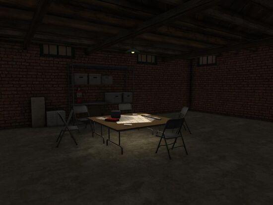 Basement - Social Area - Mom's - Makeshift Table
