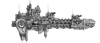 Space Marine Fleet -3- Gladius-class Frigate
