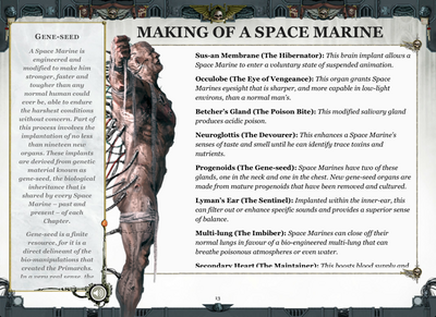 Making of a Space Marine