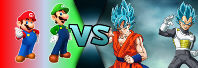 Mario and Luigi VS Goku and Vegeta