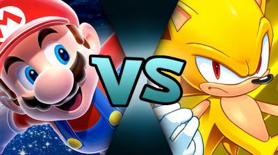 Galaxy Mario VS Super Sonic (MM875)