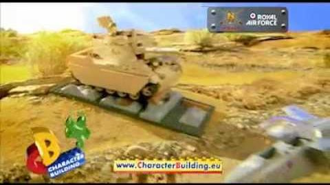 Character Building H.M. Armed Forces RAF Jet and Army Tank