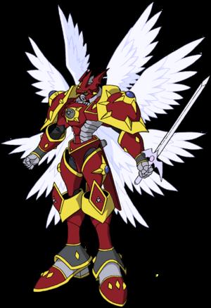 Gallantmon Crimson Mode Render