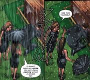 Piper freezes Brittany's funeral even the rain
