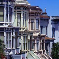 Domy w dzielnicy Castro, w San Francisco.