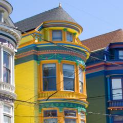 Domy w dzielnicy Haight, w San Francisco.