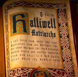 CallHalliwellMatriarchsBook