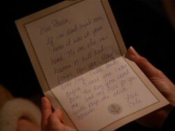 Cole's goodbye letter to Phoebe