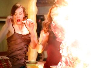 Piper and Paige Hit by Blast