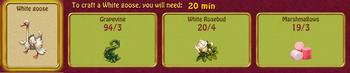 White goose roses