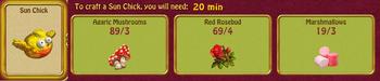 Sun chick roses