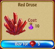 Red druse rN75