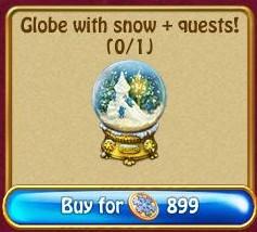 Globe with Snow