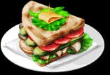 Dish-Veggie Sandwich