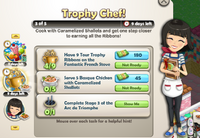 Goal-Trophy Chef! Part 3 Objectives