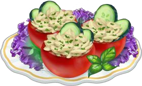 Recipe-Chicken Stuffed Tomatoes