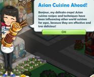 Asian Cuisine Ahead!