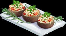 Recipe-Greens & Sauteed Mushrooms
