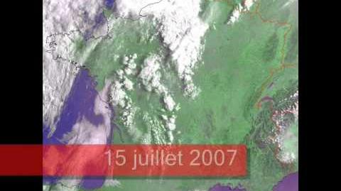 Chemtrails taken by satellite over France
