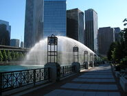 Fountain at Chicago River