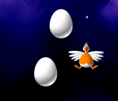File:Chicken Invaders 2 two big eggs and a released chicken.png