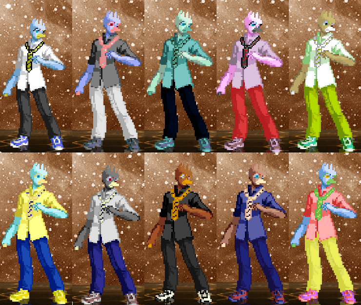 Takeshi palettes 1-10